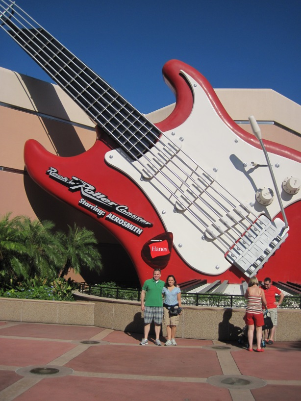 Outside the Rockin' Rollercoaster