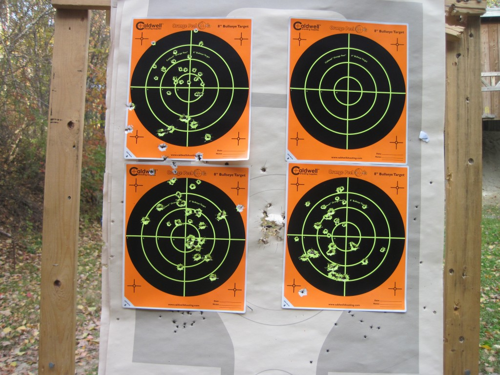 First target after .22LR and 9 mm