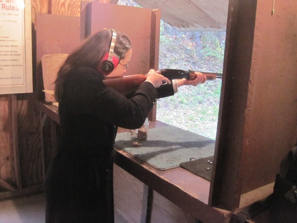 Lissa and the pump-action .22LR rifle